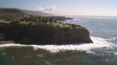 Past Point Vicente Lighthouse on the California coast. Shot in 2010. Stock Footage