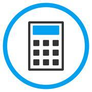 Calculator Flat Icon - stock illustration
