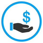 Earnings Flat Icon - stock illustration