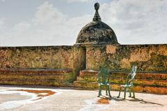 Bastion de las Palmas de San Jose - San Juan - stock photo