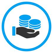Salary Flat Icon Stock Illustration