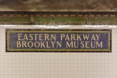Eastern Parkway Brooklyn Museum Subway Stop - stock photo