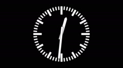 Spinning clock in 12 hour seamless loop-1-01-1-mka - stock footage