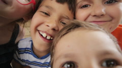 Children shoot self on a mobile phone Stock Footage