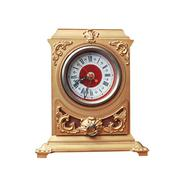 Vintage golden clock isolated on a white background Stock Photos