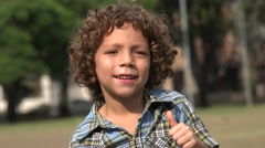 Boy Dancing and Acting Happy - stock footage