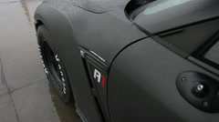 Nissan GTR ready to race Stock Footage
