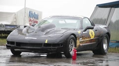Corvette waiting Hong Stock Footage