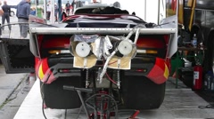 Dodge Viper rear view Stock Footage