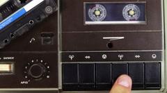Cassette Tape Deck Stock Footage