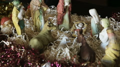 Christmas scene of Christ's life Stock Footage