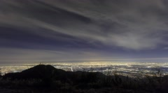 4K timelapse of great Los Angeles area, night Stock Footage