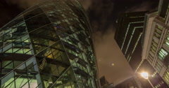 Gherkin london fish eye city building night architecture 4k Stock Footage
