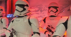 Characters  Soldiers  Stormtroopers In An Illuminated Showcase Stock Footage