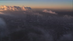 Thin clouds drifting over Los Angeles. Shot in 2010. - stock footage