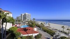 4K timelapse of Hotel del Coronado, San Diego Stock Footage
