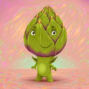 Hello my name is artichoke - stock illustration