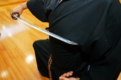 Japanese katana sword Stock Photos