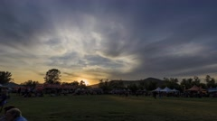 4K timelapse of Temecula hot air ballon festival Stock Footage