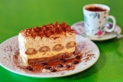 Delicious cake slice - stock photo