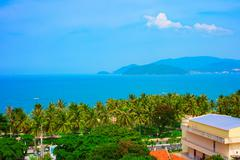 Tropical landscape with sea bay and islands, Nha Trang, Vietnam - stock photo
