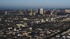 Approaching Century City in Los Angeles. Shot in 2010. Stock Footage