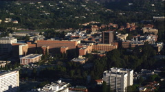 Flying past the Cal Tech campus, Pasadena. Shot in 2010. - stock footage