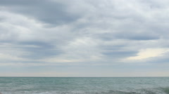 White Cliffs. Movement of the clouds over the Black Sea. Gagra, Abkhazia Stock Footage