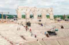 Defocused background of the Verona Arena, Italy - stock photo