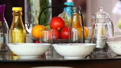Dining table Stock Footage