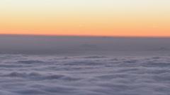 Los Angeles Valley Fog Sunrise Time Lapse Stock Footage