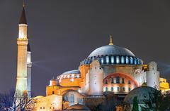 The Hagia Sophia in Istanbul - stock photo