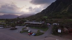 Aerial Oahu Kualoa Ranch Stock Footage