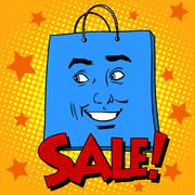Gift pack face sale - stock illustration