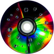 Colorful water drops on CD DVD disc Kuvituskuvat