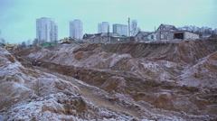 Destruction of the village. Construction of the city 4 Stock Footage
