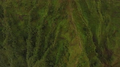 Aerial Oahu Trail Haiku Stairs Hawaii Stock Footage