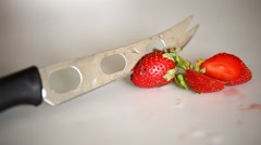 Close up of Strawberry Stock Footage
