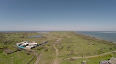 Overview of Kinburn Spit. Aerial Stock Footage