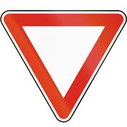 Road sign used in Slovakia - Yield Stock Illustration