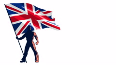 Flag Bearer United Kingdom - stock footage