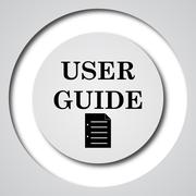 Stock Illustration of User guide icon. Internet button on white background..
