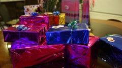 Gift Box at Luxurious Birthday Function Stock Footage
