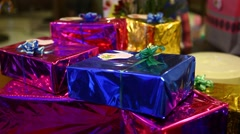 Stock Video Footage of Gift Box at Luxurious Birthday Function