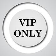 VIP only icon. Internet button on white background.. Stock Illustration