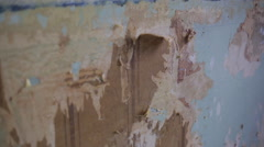 Removing old wallpaper - stock footage