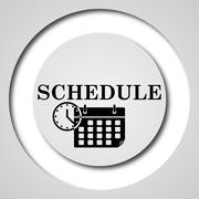 Stock Illustration of Schedule icon. Internet button on white background..