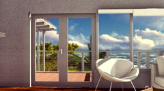 Beach resort in tropical country Stock Footage