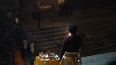 Show with torches at the ceremony of burial - stock footage