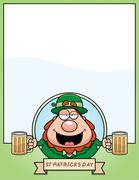Cartoon Leprechaun Graphic - stock illustration